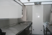 Typical interior of Catering Trailer for hire